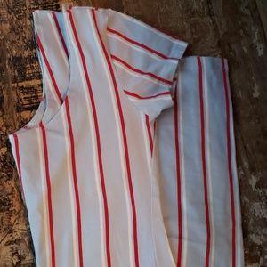 Boatneck Nautical Full Length Cotton Dress